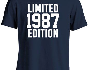30th Birthday Shirt-Limited Edition 1987 Gift for 30th Birthday Gift Tshirt For Him