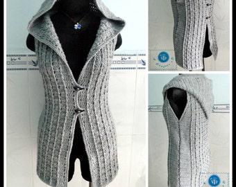 Overcast vest pdf crochet pattern ( size S - 3XL )