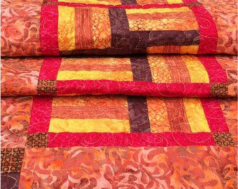 Quilted Table Runner, Autumn Table Runner, Wall Hanging, Table Runner, Table Decor