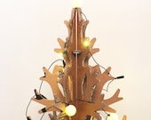 Small laser-cut recycled cardboard christmas tree, Holiday decoration 90 cm / 2,9'