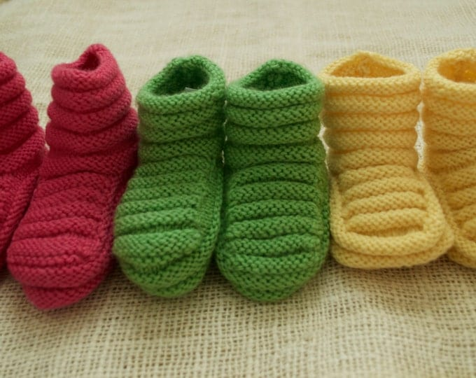Kit - Stay On Baby Booties to Knit