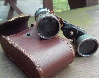 Vintage Opera Glasses Binoculars Antique Lenses w/ Case
