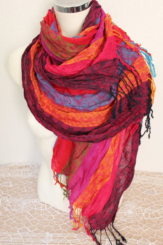 items similar to mens linen scarf ethnic scarves