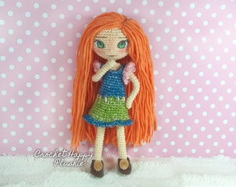 Amigurumi Doll Pattern Eliza the Scottish Teen / art doll crochet ebook / rag doll / scottish plushie / amigurumi holiday teen dress up