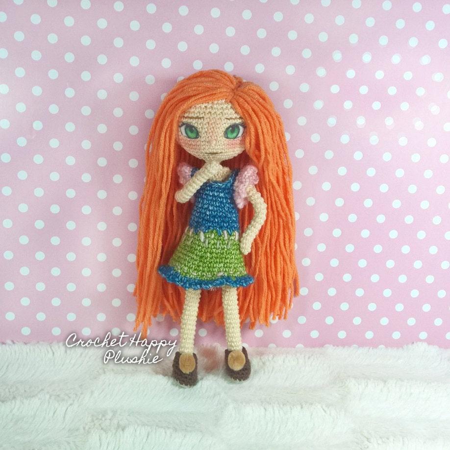 Amigurumi Dress Up Dolls : Amigurumi Doll Pattern Eliza the Scottish Teen / art doll