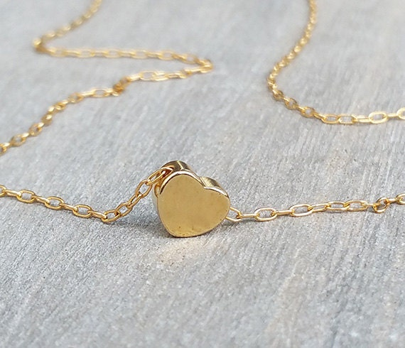 14K Gold fill heart necklace, Gold love necklace, Gold heart pendant, Gold jewellery, Dainty gold necklace, Anniversary ideas