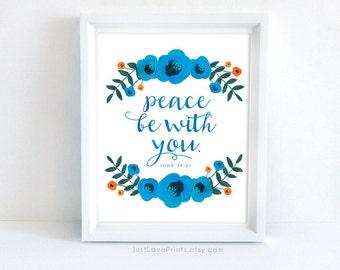 Peace be with you | John 20:21 | Catholic Christian Art | 8x10 Print