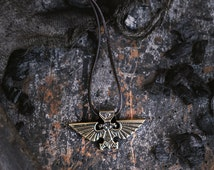 Warhammer 40k Aquila Imperial Eagle Space Marines Video Game Bronze Pendant