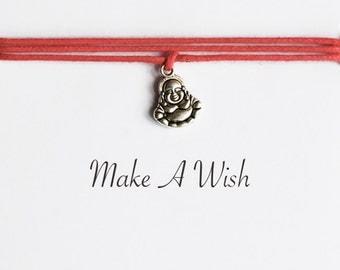 Make A Wish Buddha Bracelet - Bohemian Jewellery, Friendship Bracelet, Boho Style, Buddha Charm, Yoga Gift, Wishing Bracelet