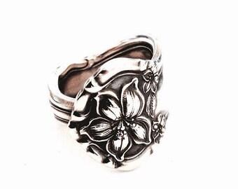 Silver Spoon Ring  Circa 1910 - Silverware Jewelry