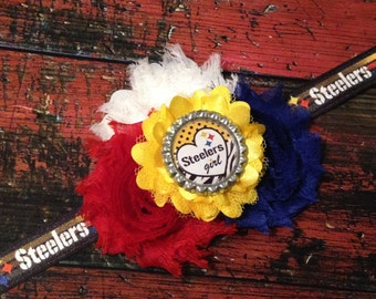 Pittsburgh Steelers Headband for babies and/or little girls!! Pittsburgh Steelers Hair Bow - Steelers Girl Headband