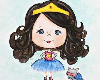 Wonder Woman Childrens Wall Art