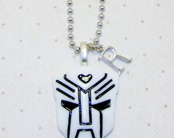 Transformer Necklace With Initials, Childrens Necklace, Childrens Jewelry, Initial Necklace