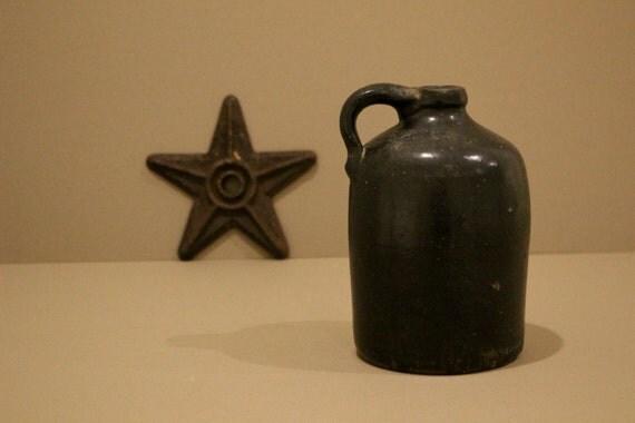 Antique Whiskey Jug Salt Glazed Stoneware Crock Whiskey Jug