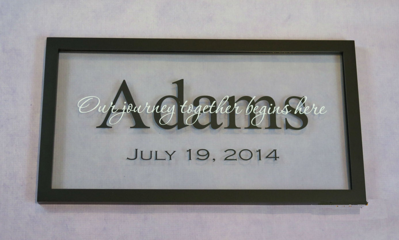 Personalized Picture Frame With Family Name Quote Family: Personalized Floating Frame With Last Name By