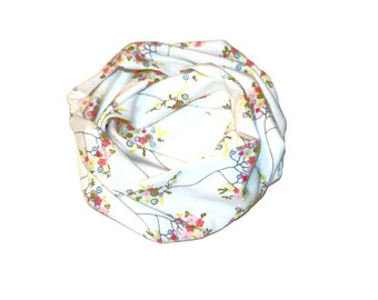 Girls infinity scarf, toddler scarf, baby scarf, tree fleur scarf, girls scarf, girls floral scarf, baby infinity scarf, baby floral scarf