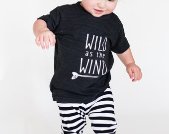 Wild as the wind shirt, baby boy clothes, kids shirts, baby boy shirts, hipster baby, girls shirt, boys shirts, kids funny shirts