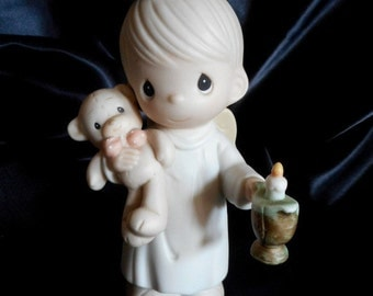 Lighting The Way To A Happy Holiday// Precious Moment Porcelain Figurine