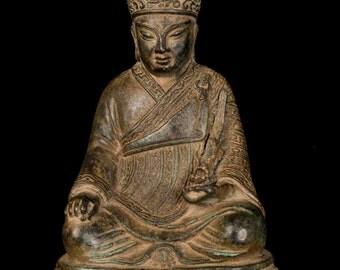 "19th Century Antique Chinese Enlightenment Buddha Statue - 23cm/9"""