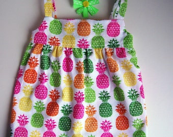 Multicolor Pineapple Sundress- Fits 18 inch dolls