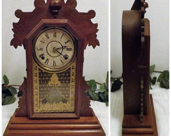 1881 Antique Gingerbread Kitchen Clock  Rare The E Ingraham & Co