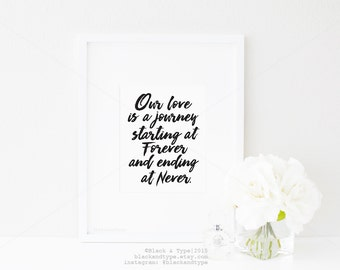Our Love || Valentines Day print, our love story print, love print, forever and ever print, wedding gift, anniversary print, wedding print