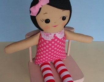Classic Rag Doll - Handmade cloth doll ragdoll plush toy, Gift for girls