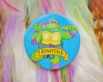 Vintage Retro 80s 90s Teenage Mutant Ninja Turtles Donatello TMNT Pin Badge