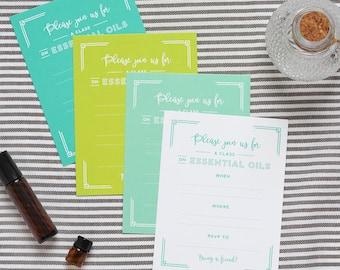 Essential oil class blank invitations