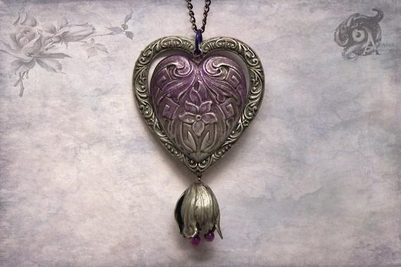 Neo-Victorian Heart Pendant