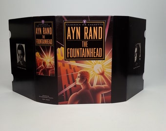 AUDIOBOOK - The Fountainhead by Ayn Rand Penguin Audio Classics on Cassette Read by Edward Herrmann - Six Audiocassettes