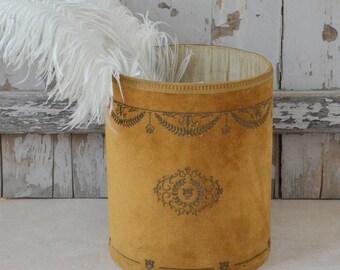 Vintage French Velvet Bin