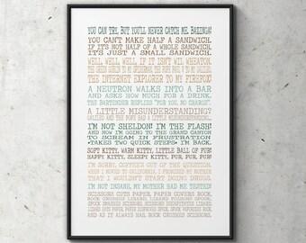 Big Bang print - Sheldon Cooper quotes - Big Bang quotes - Big Bang Theory - Big Bang poster - big bang sheldon - TBBT