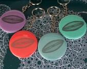 Diatom Microbe Keychain