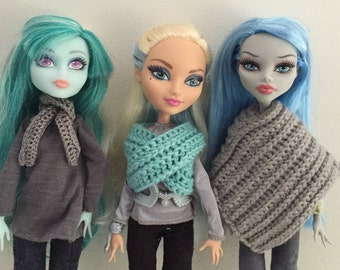 Poncho and Infinity Scarf crochet pattern for Monster High / Ever After High PDF