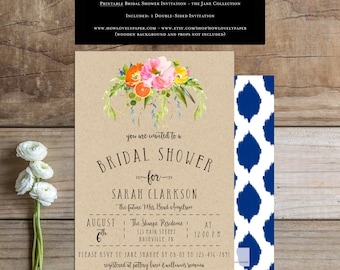 Printable Bridal Shower Invitation - the Jane Collection