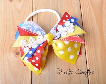 Snow White Bow - Snow White Hair Bow - Snow White Headband - Snow White Clip