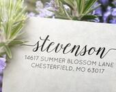 Return Address Stamp - Self Ink Address Stamp - Modern Custom Address Stamp (035)