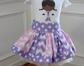 chevron skirt ONLY pink purple skirt chevron and polkadot skirt birthday skirt girls skirt girl skirt toddler spring outfit doc mcstuffins