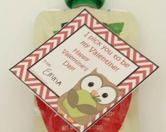 Valentine's Applesauce Tag  digital download