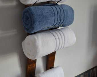 Towel Rack made from reclaimed wine barrels