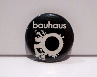 Vintage Bauhaus Pinback The Skys Gone Out Band Pin 1982 Black and White Button 1980s Goth Peter Murphy Album Cover Art Exquisite Corpse