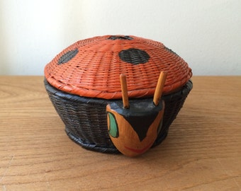 Small Ladybug Basket