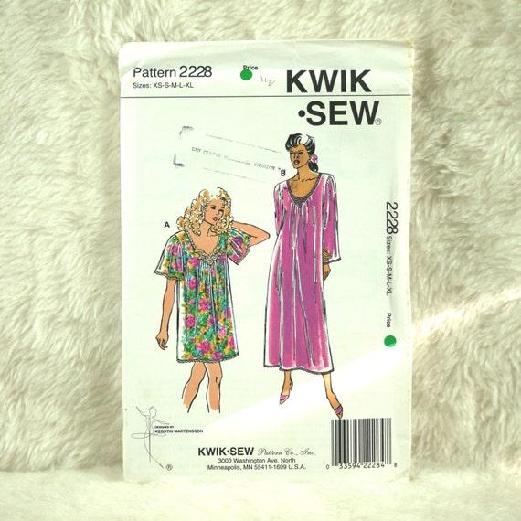 Nightgowns XS S M L XL Kwik Sew 2228 Pattern for Women