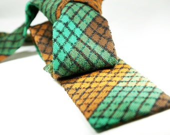"Vintage rare ""Trimshape"" skinny tie from the 1940's by Cavalier Cravat Company of Louisville."