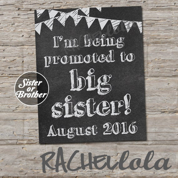 Chalkboard, Promoted to big sister brother, Pregnancy announcement ...