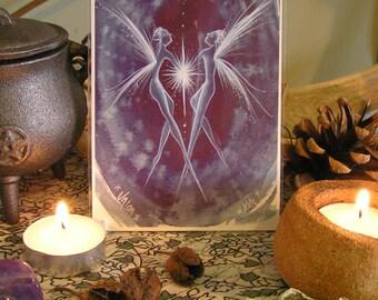 Union Mini Print/Fairy Art/Fairy Altar/Altar Art/Spiritual/Healing art/Spirit Guide/Star/Universe/Twin Flame