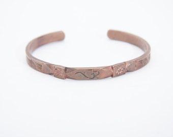 copper cuff bracelet vintage 1970s • Revival Vintage Boutique