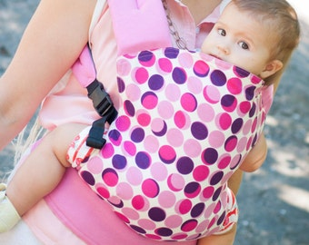 """Baby Carrier Double-sided / Reversible/ SSC/ Buckle Carrier/ Soft structured/ Ergonomic Sling / """"Disco Lights+ Flowers"""" by Bagy"""