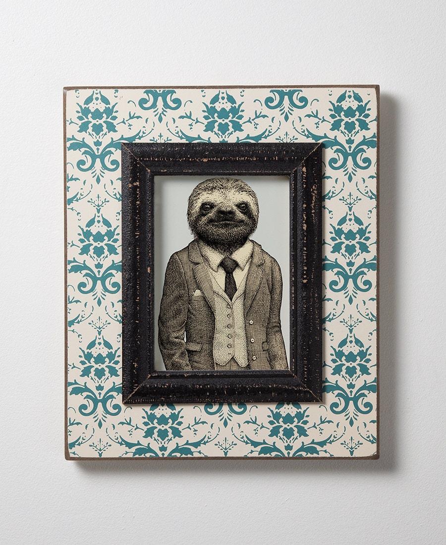 stylish sloth print sloth art animal print art print